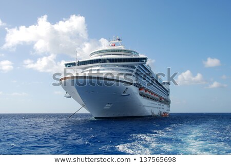Grande cruzeiro estilizado ilustração grande navio de cruzeiro Foto stock © tracer