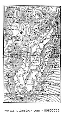 Madagáscar vintage mapa África 1920 foco Foto stock © PixelsAway