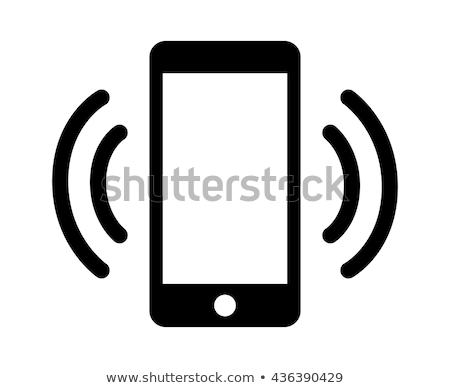 móviles · teléfono · icono · vector · blanco · fondo - foto stock © Mr_Vector