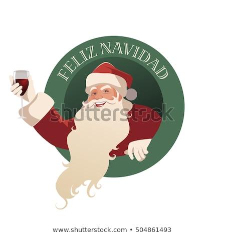 приветствие · Рождества · испанский · язык · веселый - Сток-фото © marimorena