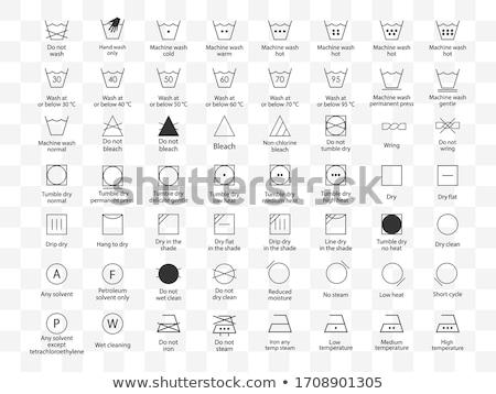 Conjunto instrução lavanderia ícones lavagem símbolos Foto stock © elenapro