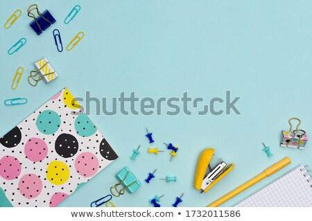 blue stationary background with copy space stock photo © voysla