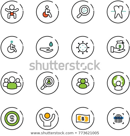 Baby icon set on glass buttons stock photo © aliaksandra