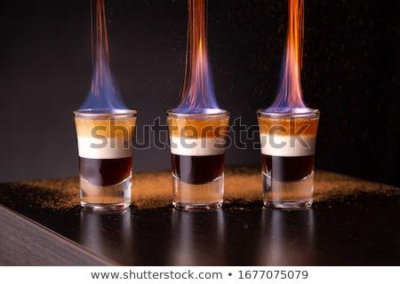 Coquetel beber café vidro branco estúdio Foto stock © jarp17