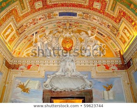 バチカン 博物館 地図 ルーム 美しい 天井 ストックフォト © lorenzodelacosta