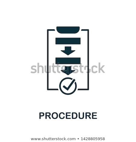 eljárás · folyamat · munka · utasítás · irat · szó - stock fotó © ivelin