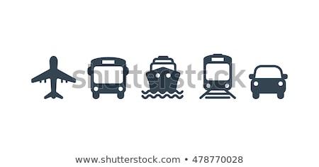 Szállítás jármű kék vektor ikon gomb Stock fotó © rizwanali3d