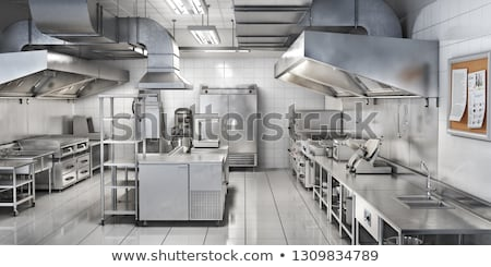 Stainless steel kitchen sink Stock photo © raywoo
