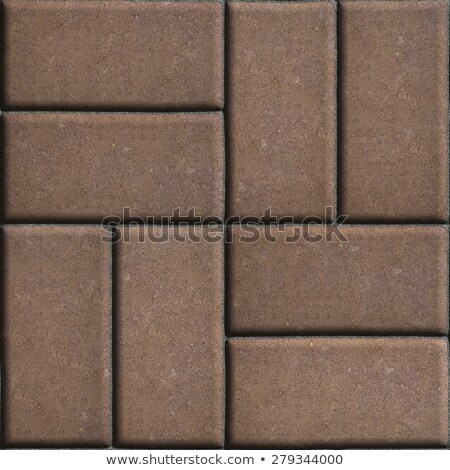 brown paving slabs of rectangles laid out on two pieces perpendicular to each other stock photo © tashatuvango