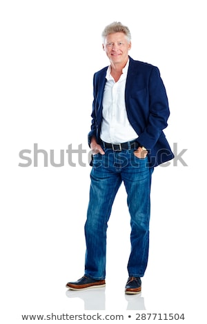 Matured man posing to camera, full length. Stock photo © stockyimages