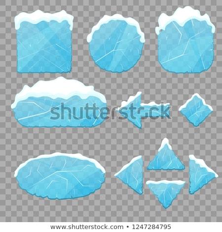 Jég nyilak szett 3D réteges könnyű Stock fotó © DzoniBeCool