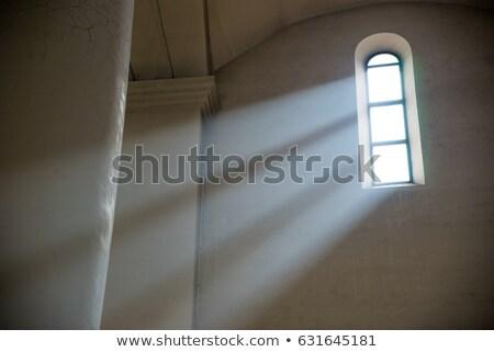 Chiesa finestra raggi di sole immagine nero pregare Foto d'archivio © w20er
