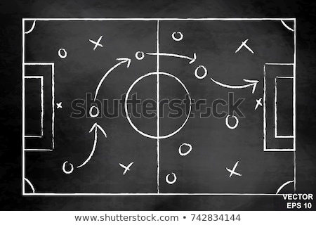 Hand Drawing Soccer Game Tactics  Stock photo © ivelin
