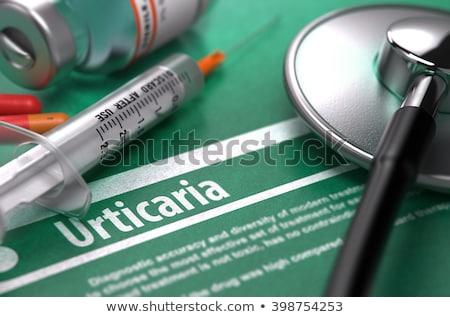 Diagnosis - Urticaria. Medical Concept. 3D Render. Stock photo © tashatuvango