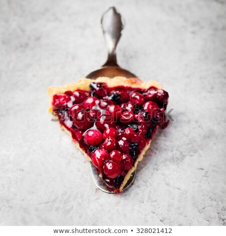 cuchara · de · madera · Berry · frutas · salud - foto stock © saharosa