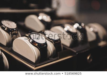 luxus · bőr · pánt · óra · naptár · kék - stock fotó © ronen