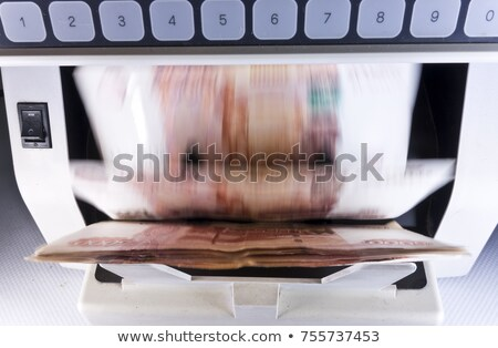 Close-up of a banknotes counting machine Stock photo © imagedb