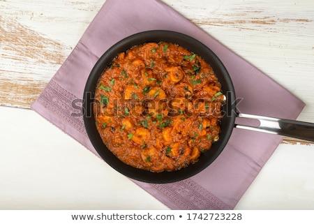 roi · crevettes · blanche · plaque · peu · profond - photo stock © Freila