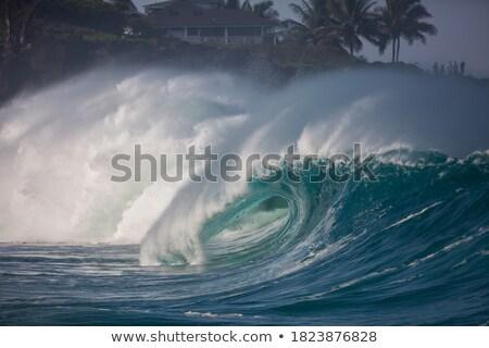 grande · rochas · mar · costa · borda · marinha - foto stock © achimhb