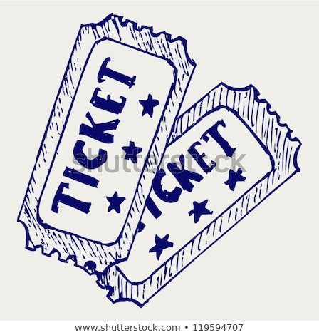 two tickets and hand draw cinema icon Stock photo © netkov1