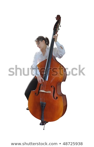 woman plays the double bass Stock photo © adrenalina