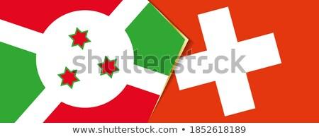 スイス ブルンジ フラグ パズル 孤立した 白 ストックフォト © Istanbul2009