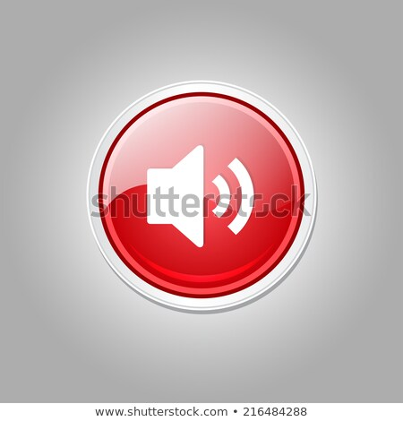 Voulme Circular Red Vector Web Button Icon Stock photo © rizwanali3d