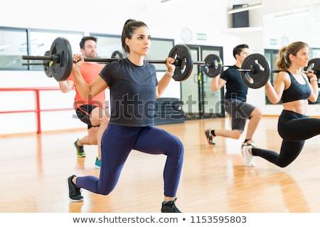Kulturysta podnoszenie ciężarów siłowni nude zdrowia sportowe Zdjęcia stock © Paha_L