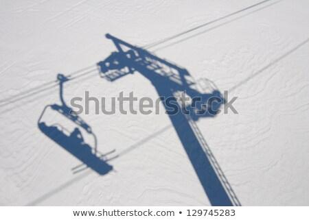 Esquiador ilustração homem esportes montanhas esquiar Foto stock © adrenalina