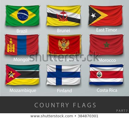 Brazilië Mongolië vlaggen puzzel geïsoleerd witte Stockfoto © Istanbul2009