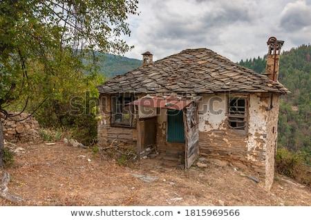 старые заброшенный деревне осень пейзаж горные Сток-фото © Kotenko