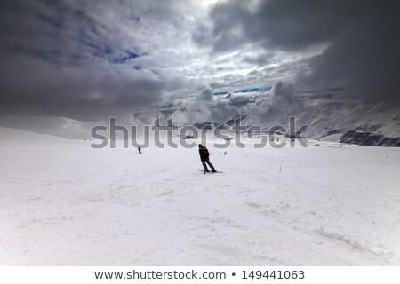 Haut pente tempête Géorgie ski Resort Photo stock © BSANI