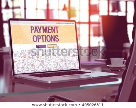 онлайн · кредитных · карт · оплата · болван · дизайна · стиль - Сток-фото © davidarts