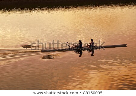 Two rowers in a boat Stock photo © smuki