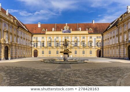 Courtyard of the historic Melk Abbey, Austria Stock photo © meinzahn