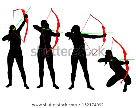 female archer with bow and arrow.  Stock photo © godfer