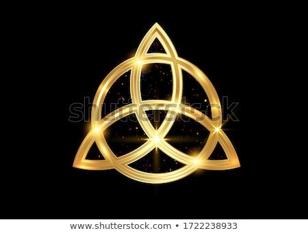 Gold Wiccan symbol Triple Goddess  Stock photo © shawlinmohd