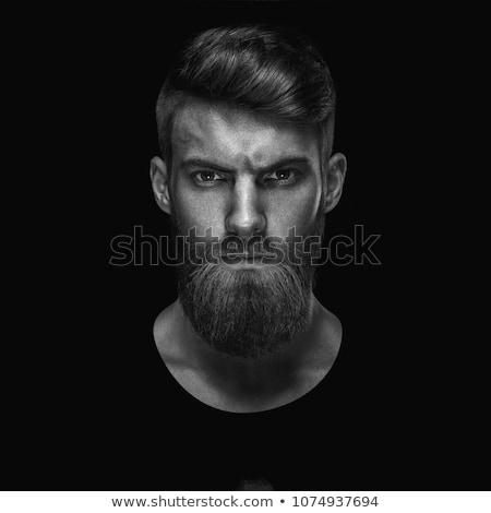 Fashion concept, young attractive white man on black background Stock photo © zurijeta