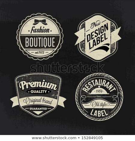 collection of round vintage labels stock photo © m_pavlov