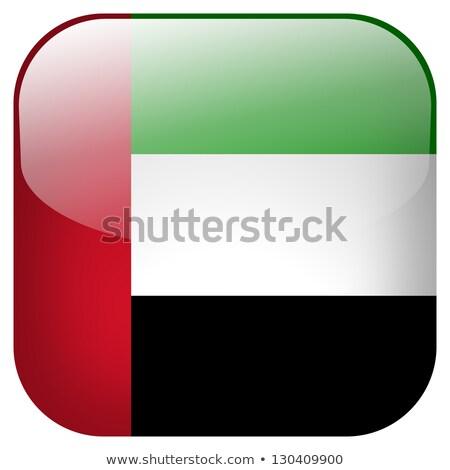 квадратный икона флаг Объединенные Арабские Эмираты 3D изолированный Сток-фото © MikhailMishchenko