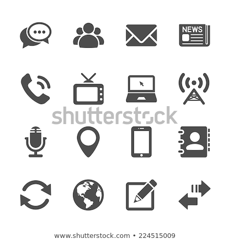 Global Contacts Icon Stock photo © WaD