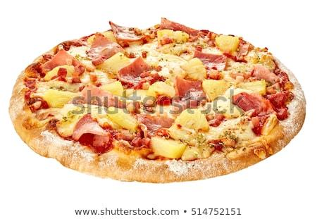Pizza Hawaii kesmek gıda meyve peynir Stok fotoğraf © Digifoodstock