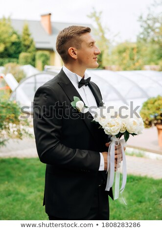 sério · noivo · natureza · jovem · homem · bonito - foto stock © artfotodima