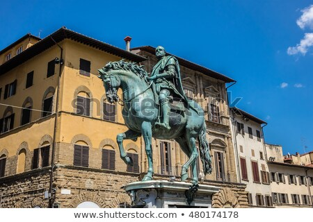 Cosimo Medici's statue on the Piazza della Signoria by Giambologna in Florence, Italy. Stock photo © Elenarts