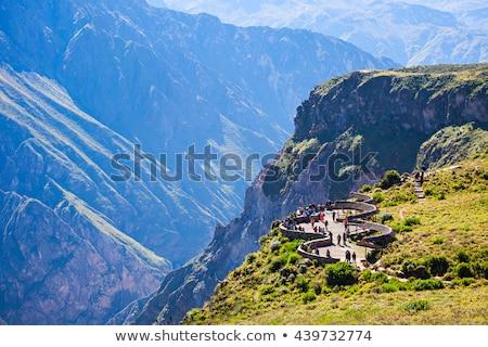 Kanyon Peru kilátás természet tájkép világ Stock fotó © jirivondrous