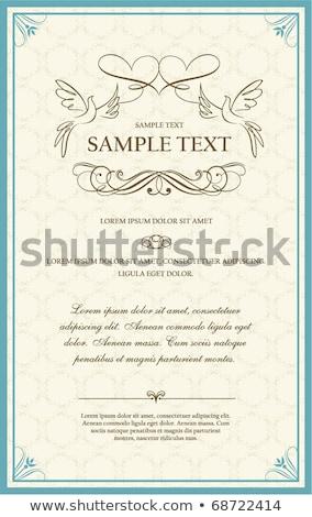 casamento · projeto · floral · coroa · rosa · natureza - foto stock © orensila