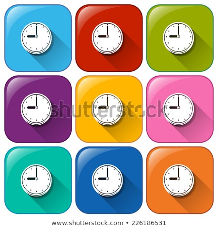 Rounded buttons showing the wallclock Stock photo © bluering