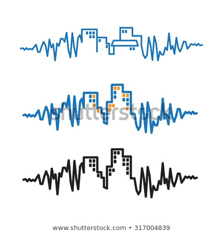 stylized seismograms Stock photo © tracer