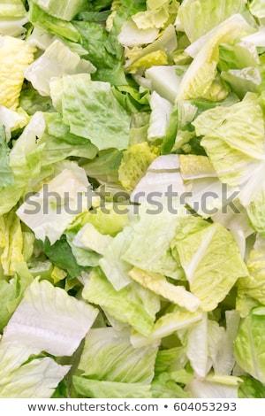 Jéghegy saláta saláta vágódeszka levelek egészséges Stock fotó © Digifoodstock