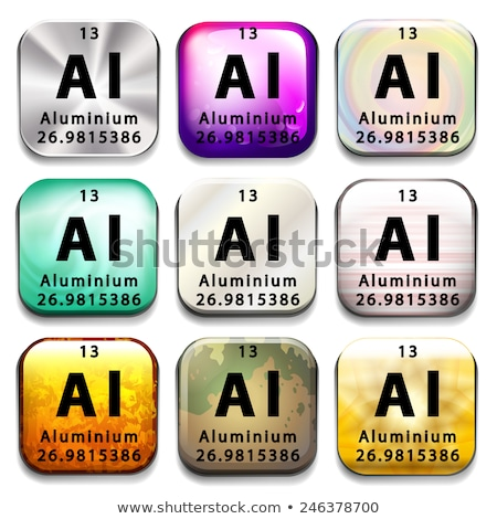 Pulsante elemento alluminio bianco istruzione Foto d'archivio © bluering